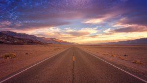 Fahrt in Richtung Horizont